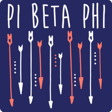Pi Beta Phi Falling Arrows Tee